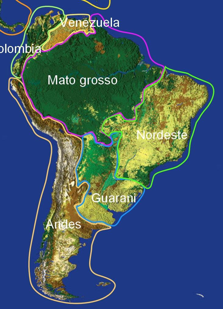 Amazonie carte satellite 2000-2019